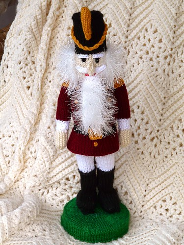Knitted Nutcracker pattern by Alan Dart
