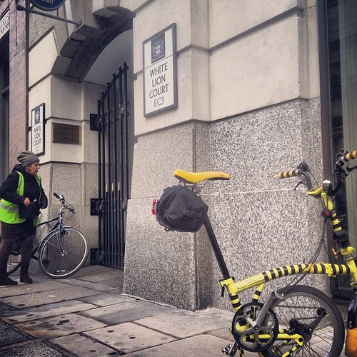 LCC Lions Tour Ride White Lion Court #urban #iphone5c #instagram #bromptonlife #bromptonbicycle #brompton #london