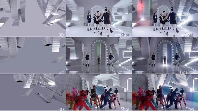 羅志祥 鬧翻天 MV 3D stairs