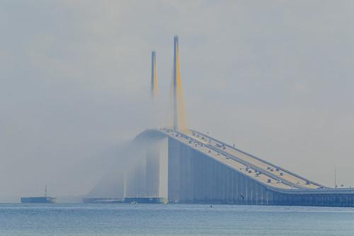 Marine Layer rolling through Sunshine Skyway Bridge - Timelapse 8/11
