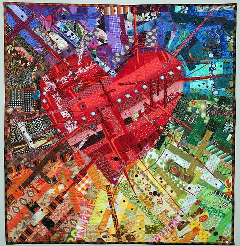 Amazing Tecnicolor Heart Quilt