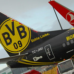 Turkish Airlines TC JHU Tail Borussia Dortmund London Gatwick EGKK LGW