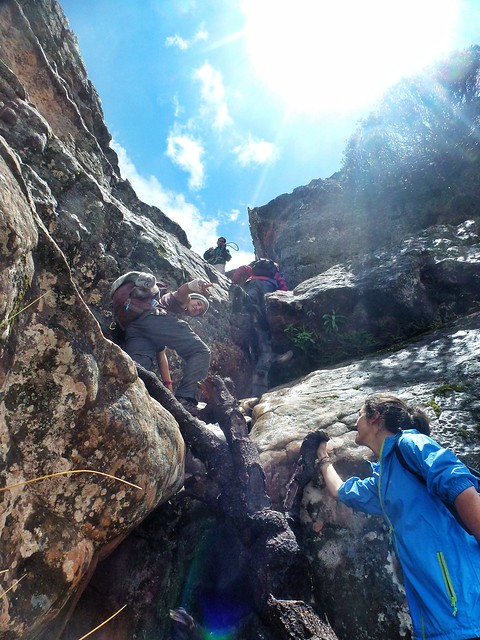 climbing rocks at Torotoro park