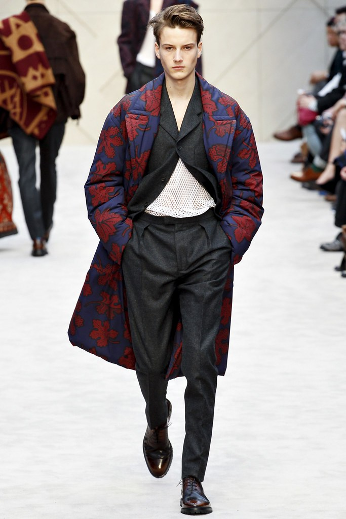 Excellent Male Model FW14/15 London Burberry Prorsum