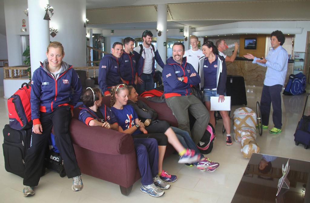 Team GB Paratriathletes Visit Sands Beach On The Road To Rio 2016