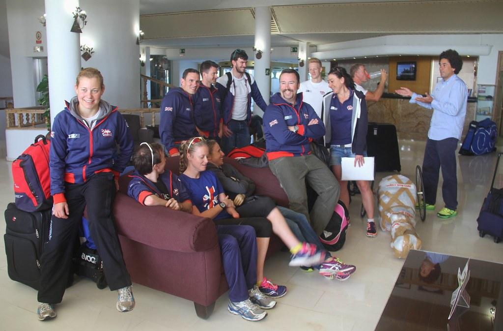 Team GB Paratriathletes Visit Sands Beach On The Road To Rio 2016