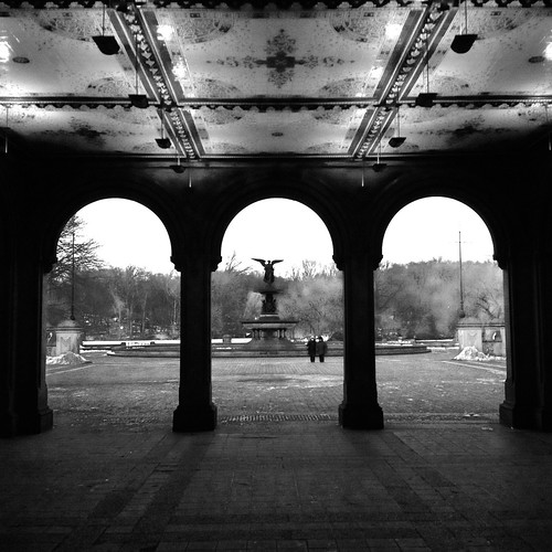 Bethesda Terrace in Winter by DJ Lanphier