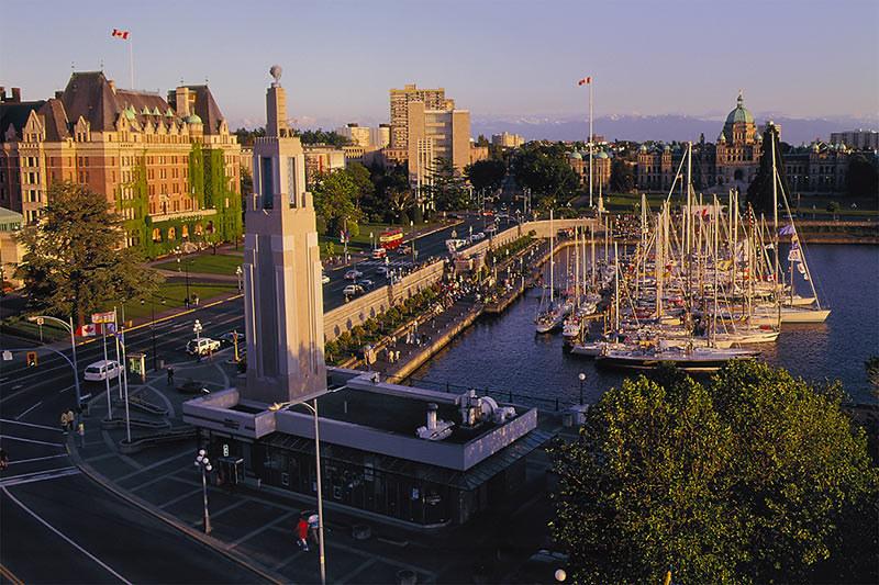 Victoria's Inner Harbour, Victoria, Vancouver Island, British Columbia, Canada