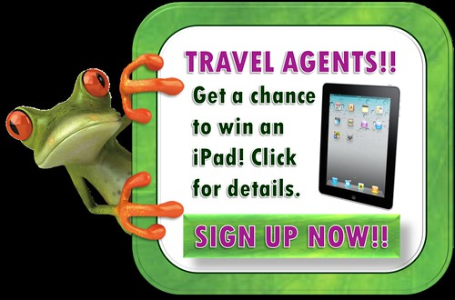 Sign up as Travel Agent for a chance to win an iPad!