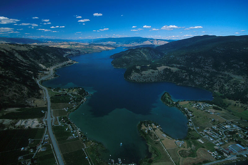 Oyama at the South end of Kalamalka Lake in Vernon, North Okanagan Valley, British Columbia, Canada