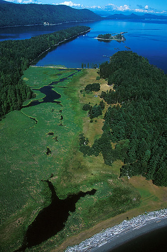 Tumbo Island in Georgia Strait, Gulf Islands National Park, Southern Gulf Islands, British Columbia, Canada