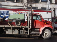 asphalt, vehicle, truck, transport, trailer truck, land vehicle,