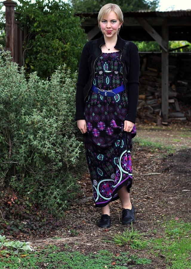 black, purple, & teal - OOTD 2/12/2014