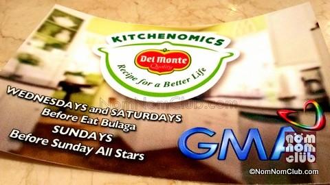 Del Monte Kitchenomics on GMA 7