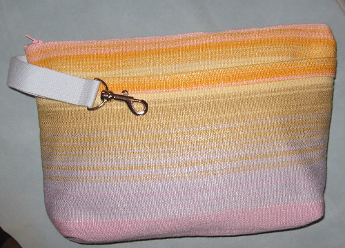 handspun silk project bag