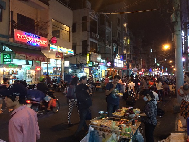 Nightlife in the backpacker's district