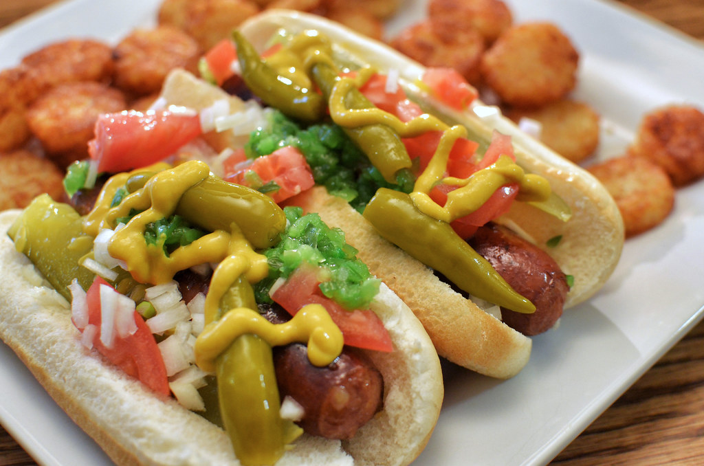 Mmm... Chicago style hot dogs