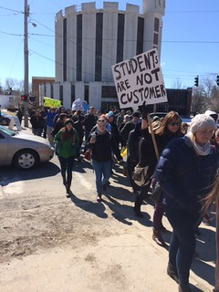 USM PROTEST 2 - law school rally to Woodbury campus center