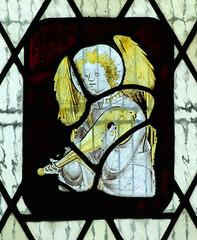 angel playing a gittern