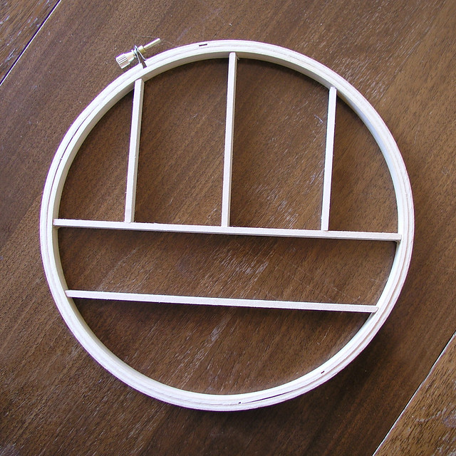 Embroidery Hoop Knick Knack Shelf