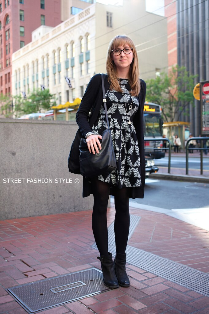 owl print dress, san francisco streetstyle fashion blog, STREETFASHIONSTYLE, street fashion style,
