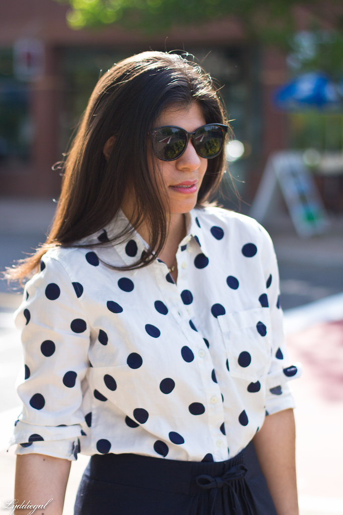 polka dot blouse, navy skirt-7.jpg