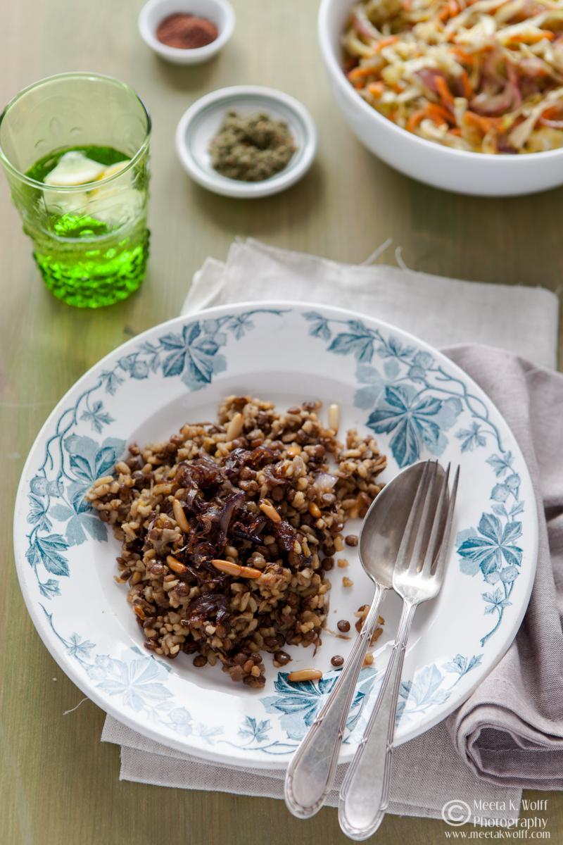 Mujaddara - Lebanese Lentils Bulgur Pilaf (101)