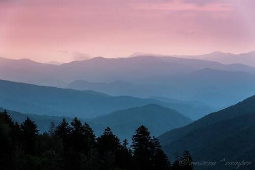 blue trees mountains tree nature fog clouds sunrise unitedstates tennessee south north ridge parkway carolina gatlinburg appalachian
