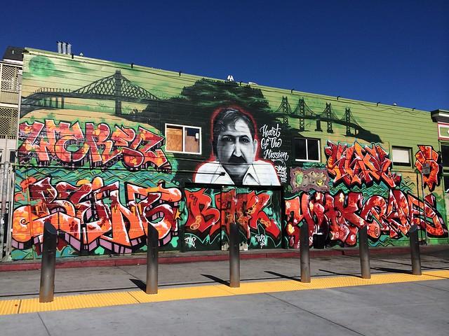 Memorial graffiti mural