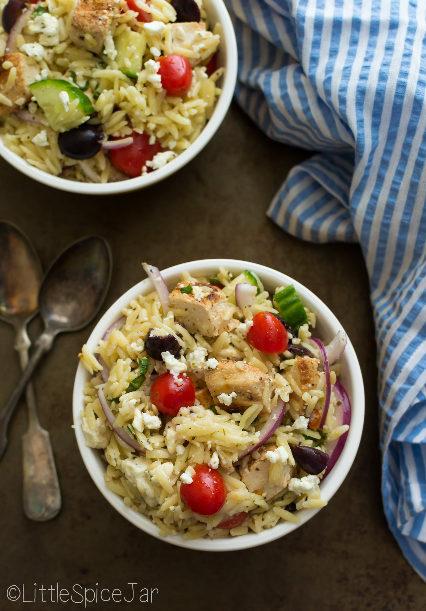 Greek Orzo Pasta Salad with Chicken 11