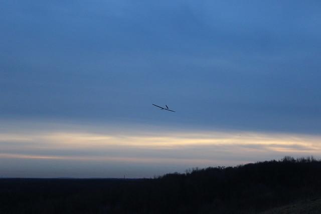 Modellflugzeug über dem Grunewald