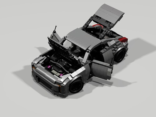 Lego Nissan 350Z - everything opened up