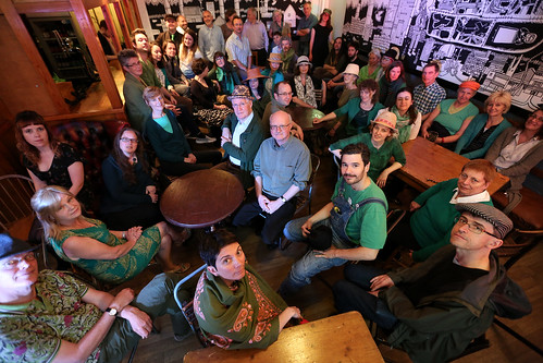 Cecil Sharp House Choir in the bar at Cecil Sharp House, May 2015, photo © EFDSS, photographer Roswitha Chesher
