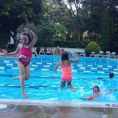 Its like herding cats. Jump!  #pool #fun #friends #sisters