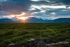 Sunset over Þingvellir National Park by Þorkell