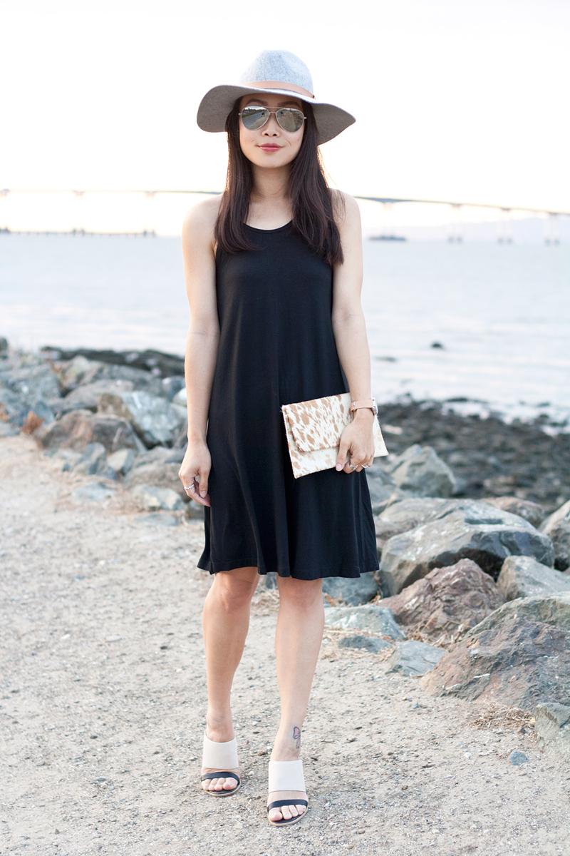 04-black-dress-fedora-hat-seychelles-mules-sf-sanfrancisco-style