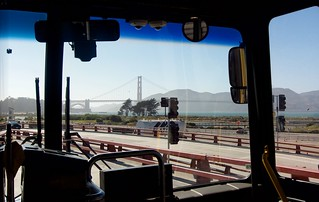Golden Gate Bridge dans le bus :)