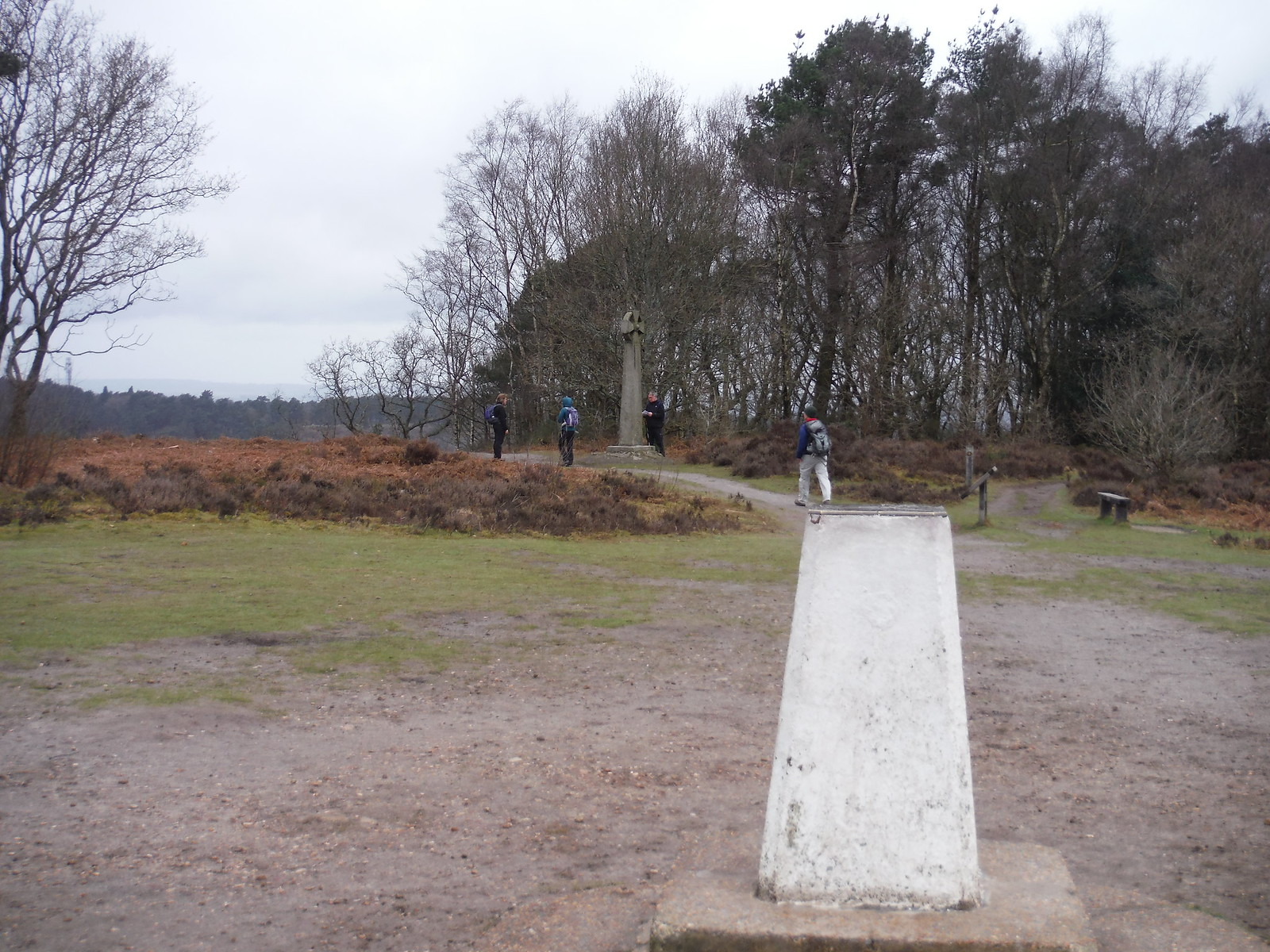 Gibbet Hill, Trigpoint and Celtic Cross SWC Walk 144 Haslemere to Farnham