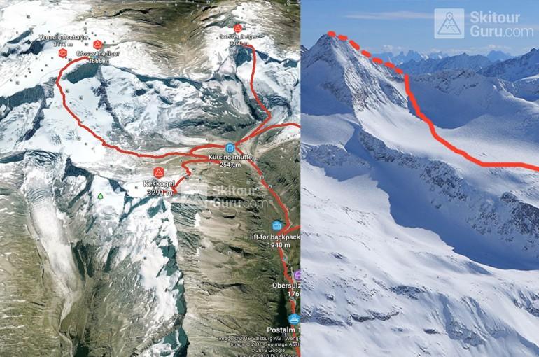 Kürsinger Hütte - skialpové eldorádo mezi ledovci