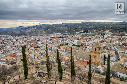 Huelma y sus campos desde el Castillo de los Duques de Alburquerque