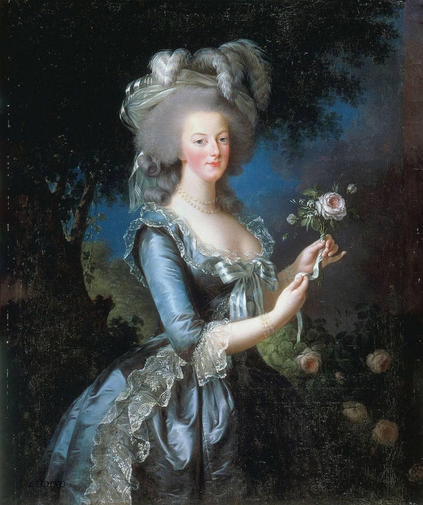 Marie Antoinette by Élisabeth Vigée-Lebrun, 1783