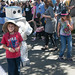 Kids grooving with robot
