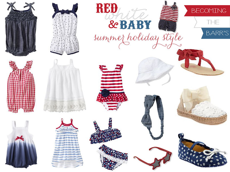 summer holiday baby style; 4th of july baby gift; memorial day baby outfits; 4th of july baby outfits; labor day baby outfits; red white blue baby clothes