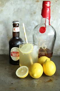 Lemon Ginger Bourbon Fizz