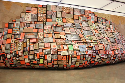 Wide view of Barry McGee's Untitled 2005-2012.