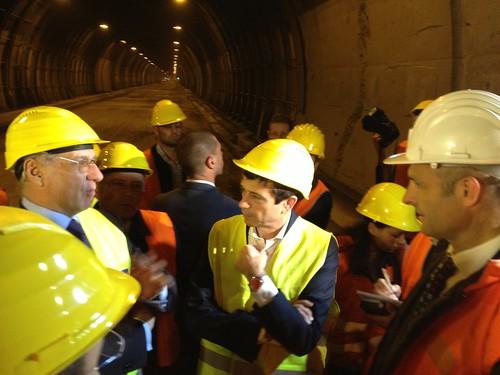 Ministro Lupi sopralluogo galleria monte piazzo con Ciucci Anas Lecco (4)