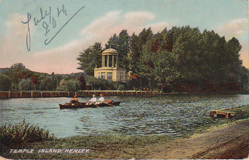 Old postcard of River Thames, Henley.