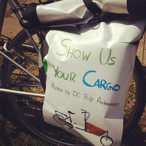 Stop by the bike racks (until 2 p.m.) at Eastern Market to show your cargo off to the D.C. Bike Ambassador!