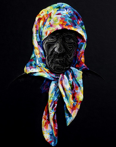 Quilled Headscarf Left Behind by Yulia Brodskaya