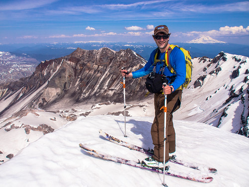 Andy Aupperlee on the summit of Mt. St. Helens